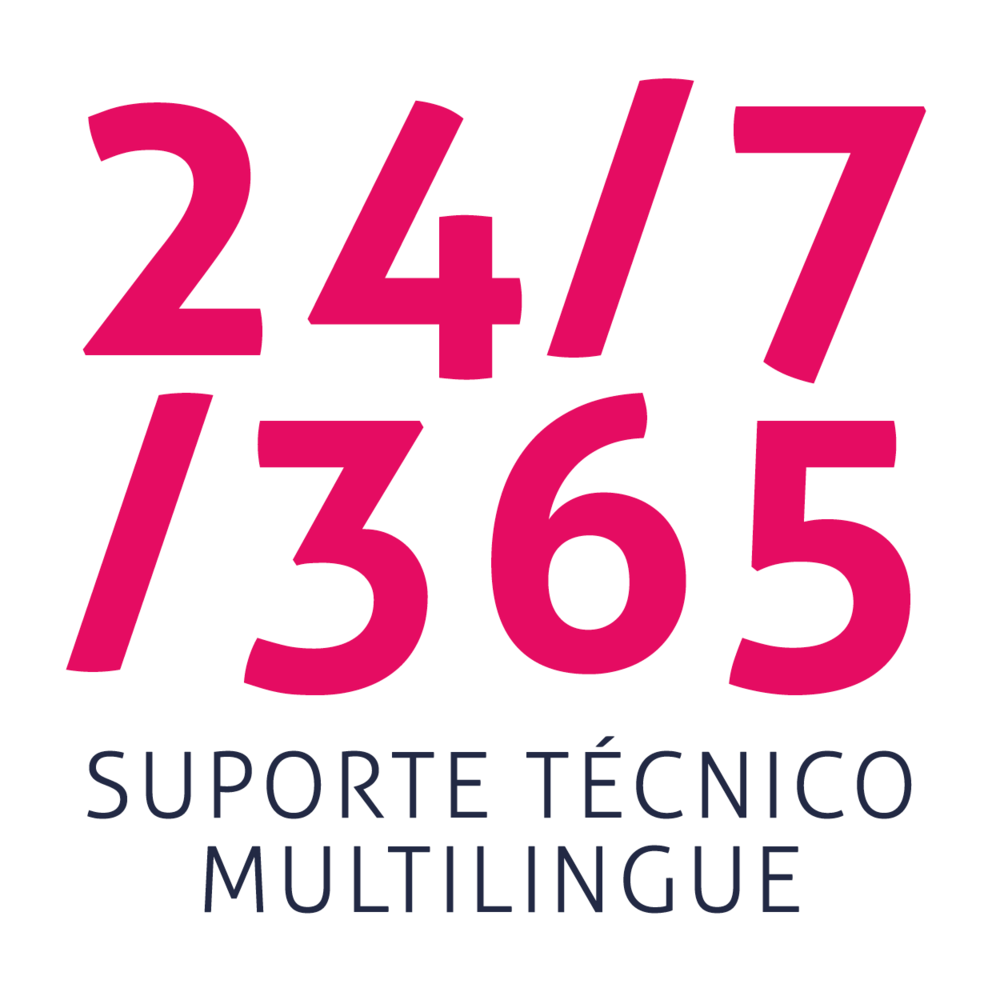 24/7/365 suporte técnico multilingue