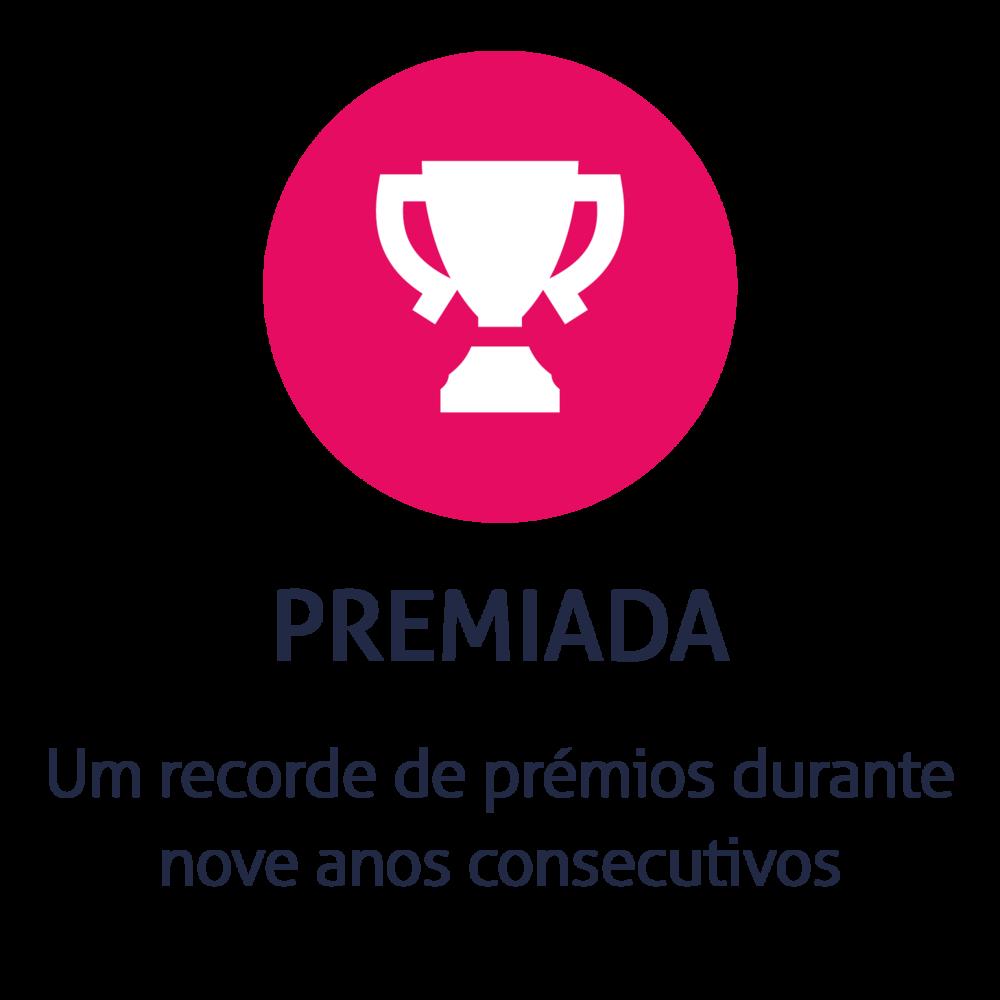 Um recorde de prémios durante nove anos consecutivos