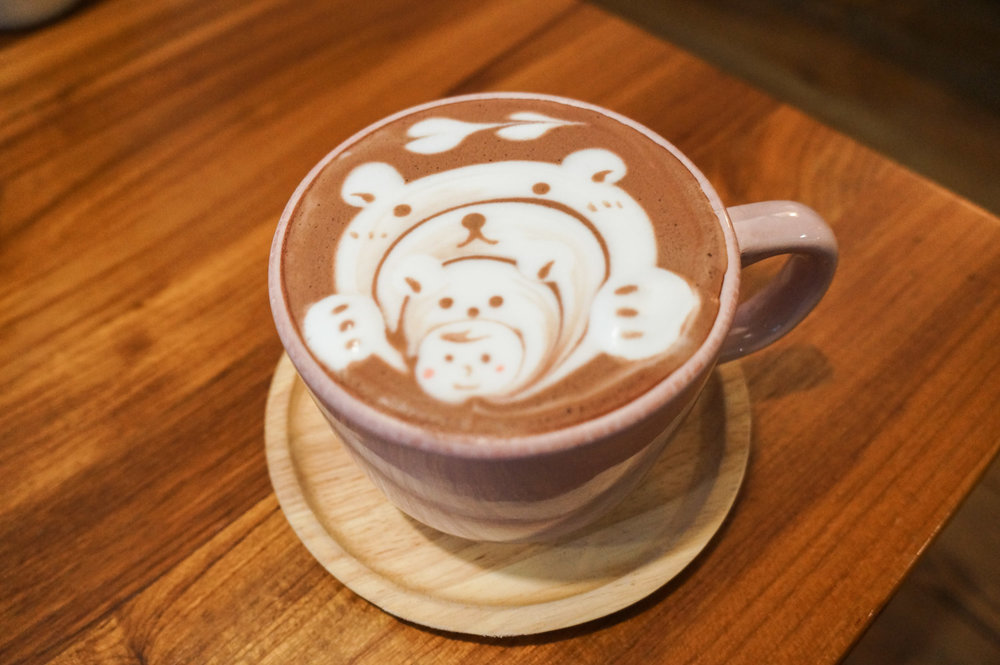 From a cute cafe in Taipei, Taiwan