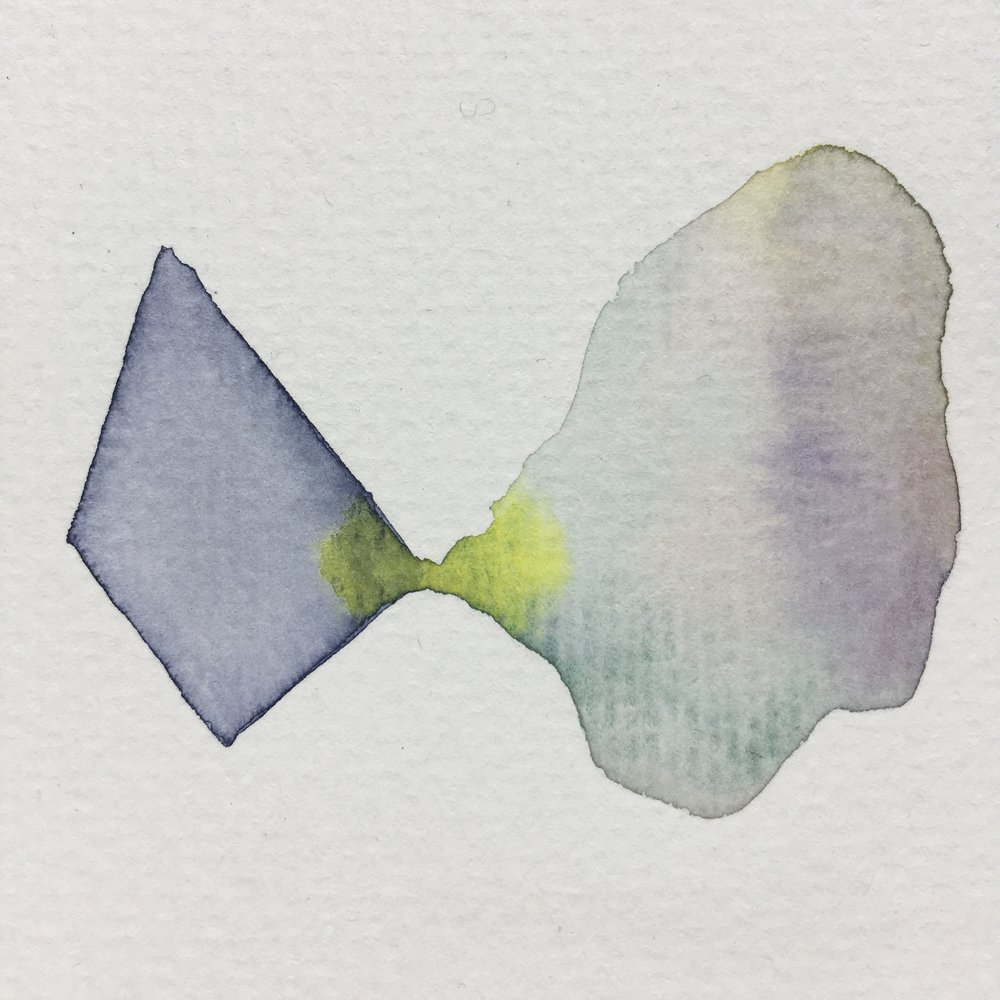 Forgotten Waters   aquarelle, 5 cm x 5cm, 2016.   Private collection.