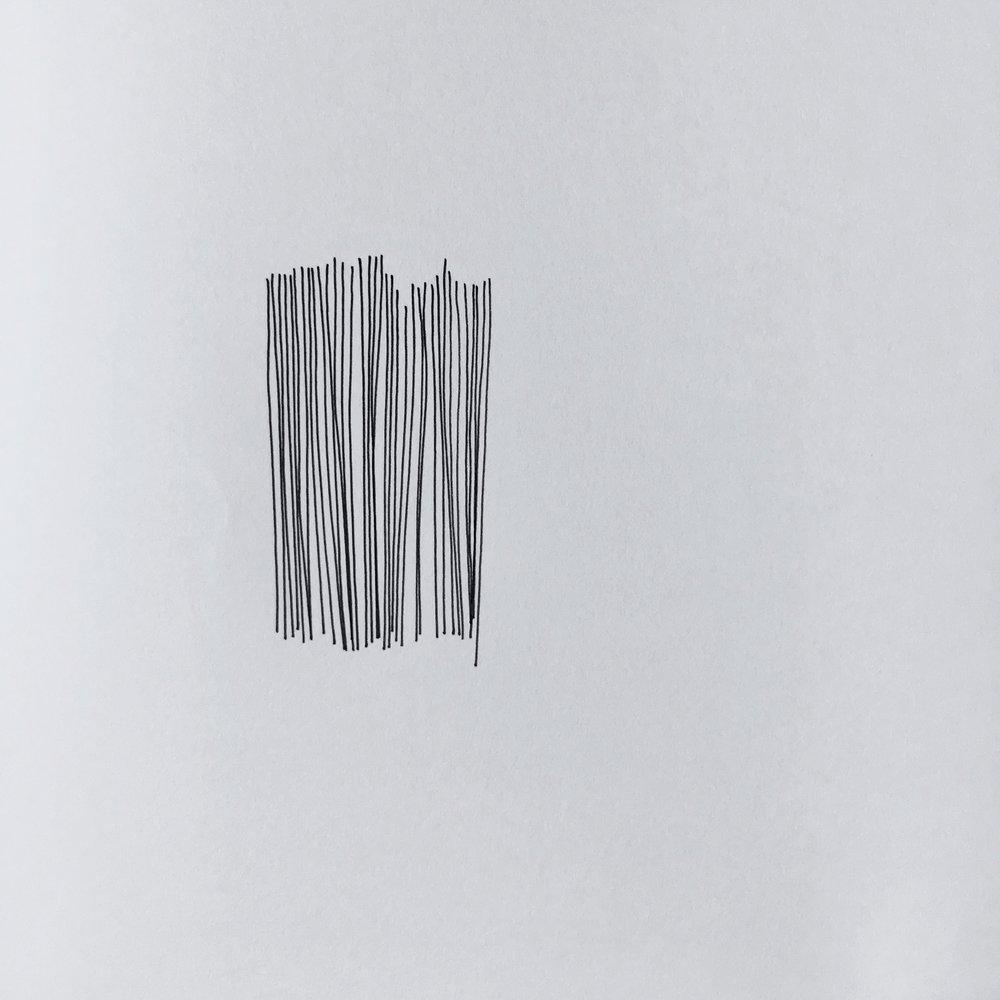 Vertical lines 5, 2016.