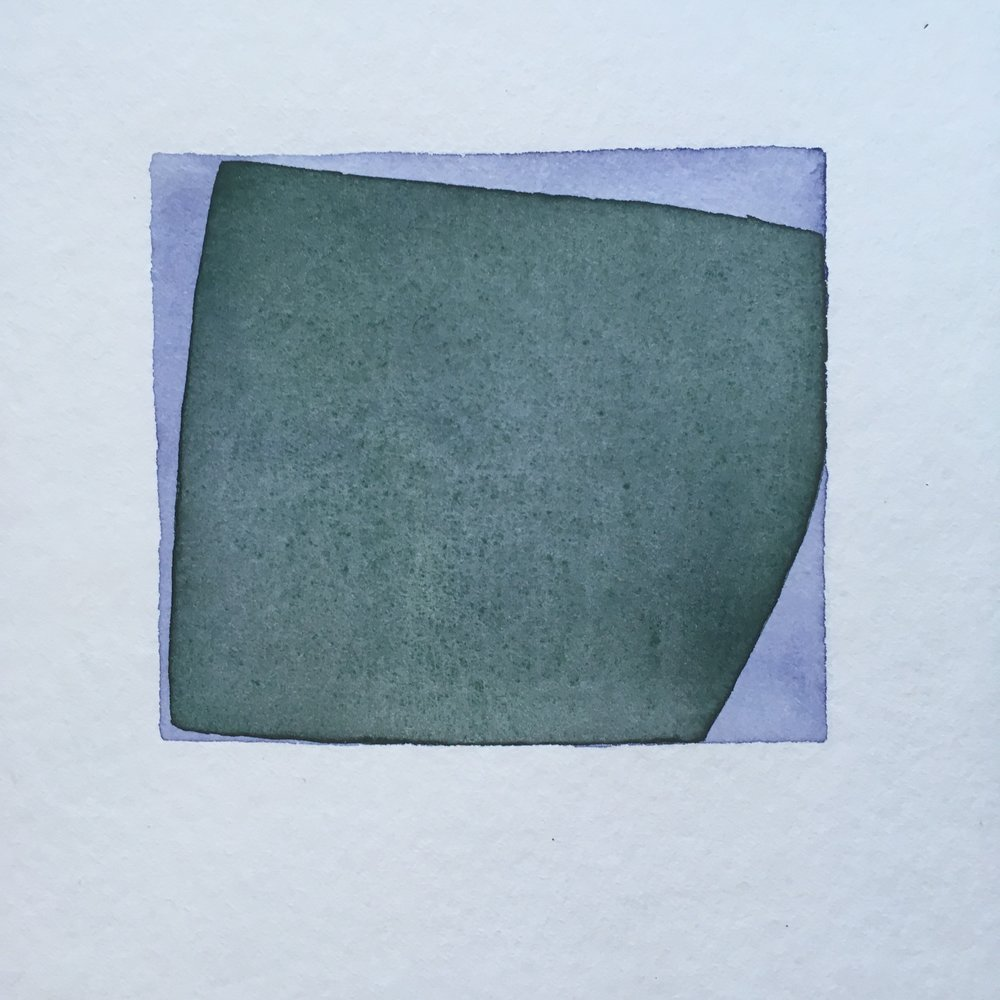 Almost square series, watercolour, 20cm x 20cm, 2017.   Private collection