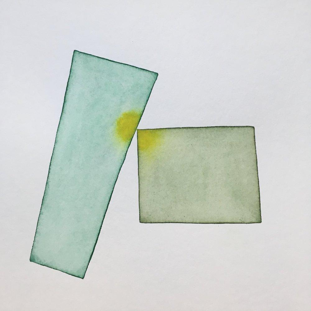 Geome series, watercolour, 30cm x 30cm, 2018.