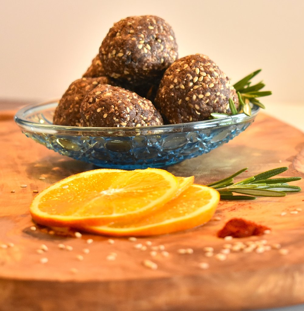 sesame apricot balls