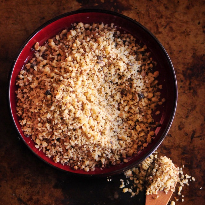 - Click on the image for a unique take on Dukkah using walnuts. Thanks Kristen Wood at Moon and Spoon and Yum!