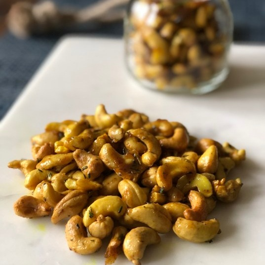 - Sweet and savory glazed nuts from Zest for Cooking