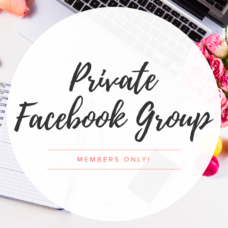 PRIVATE MEMBERS-ONLY FACEBOOK GROUP