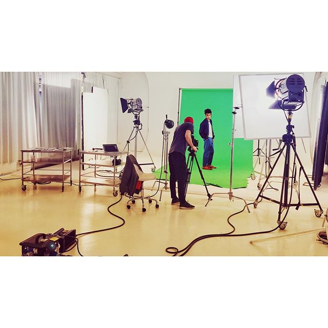 Some green screen action with @officeshoes today. @streetstudios_e8