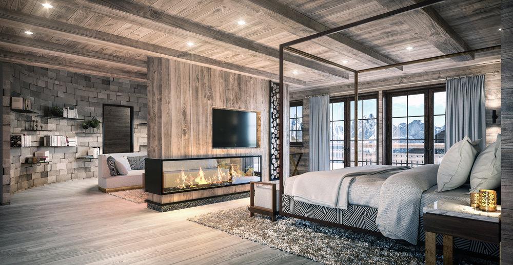 Swiss Ski Chalet—Interiors -