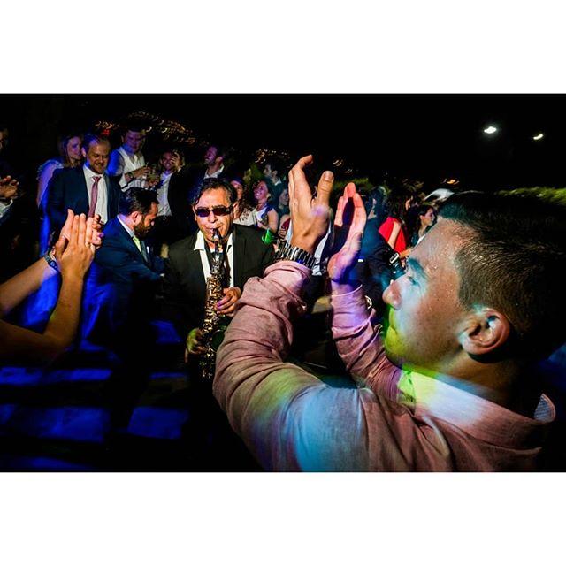 🎷 Party @rafaeltorresphoto - www.thewedroads.com - #artist #moment #saxo #weddingday #dressbridalmaids #weddinglove #weddingart #weddingmoments #weddingswithlove #weddingdays #thebestparty #thewedroads #weddingspain #photographers #details #people  #toledo #party #weddingparty #palaciogaliana