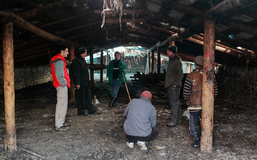 Interviewing Tush sheep farmers, the project team get to grips with human-wildlife conflict in Vashlovani