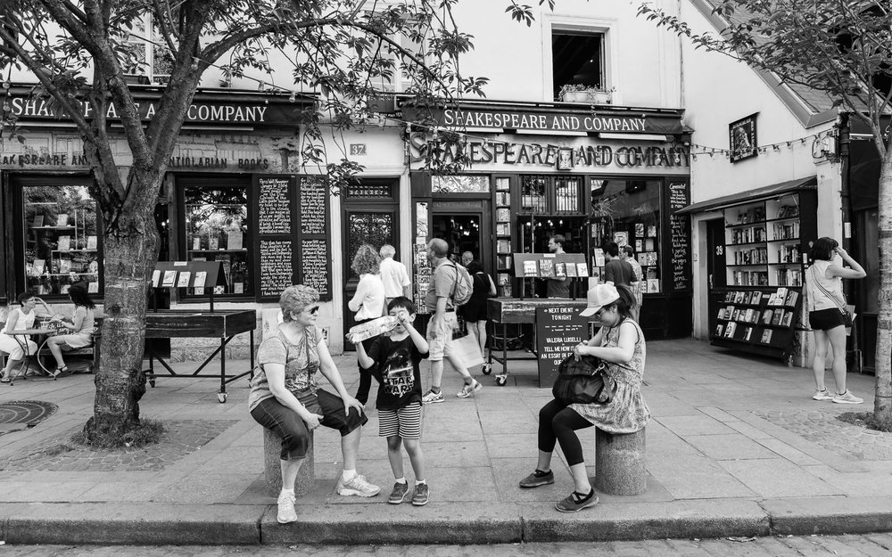 The famous Shakespeare & Company bookshop
