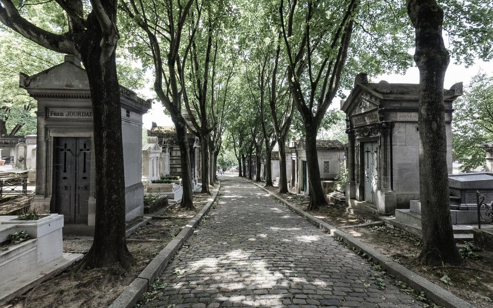 """A smaller side-street in the City of the Dead and, below, some of the """"homes"""" that line the streets"""