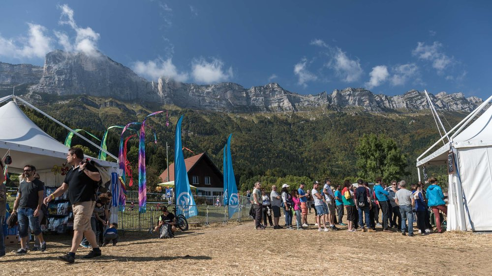 With the beautiful Chartreuse Natural Park as the backdrop, crowds begin to gather on the first full-day of the festival