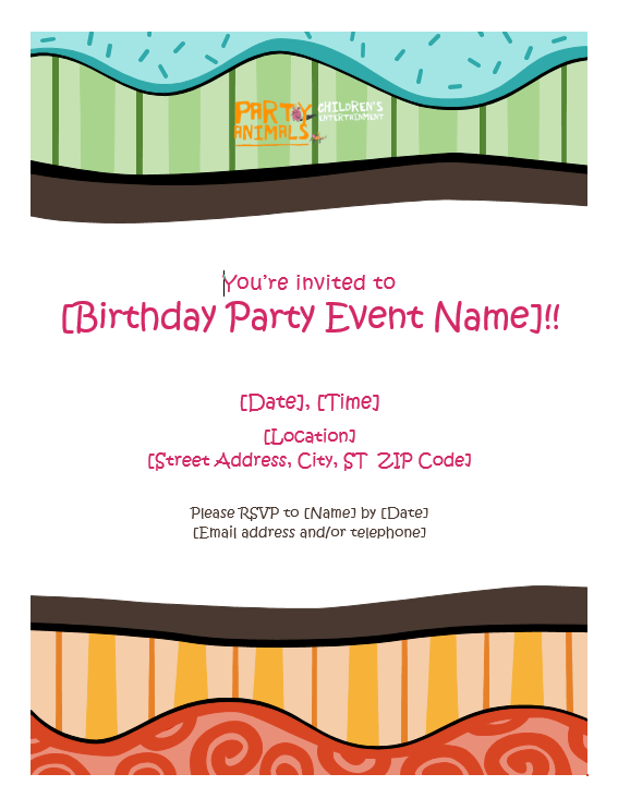 Party Invite 3 - Download Here