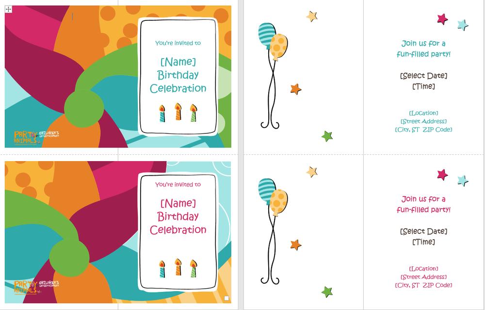 free-invitations-printable-birthday-invites — Party Animals