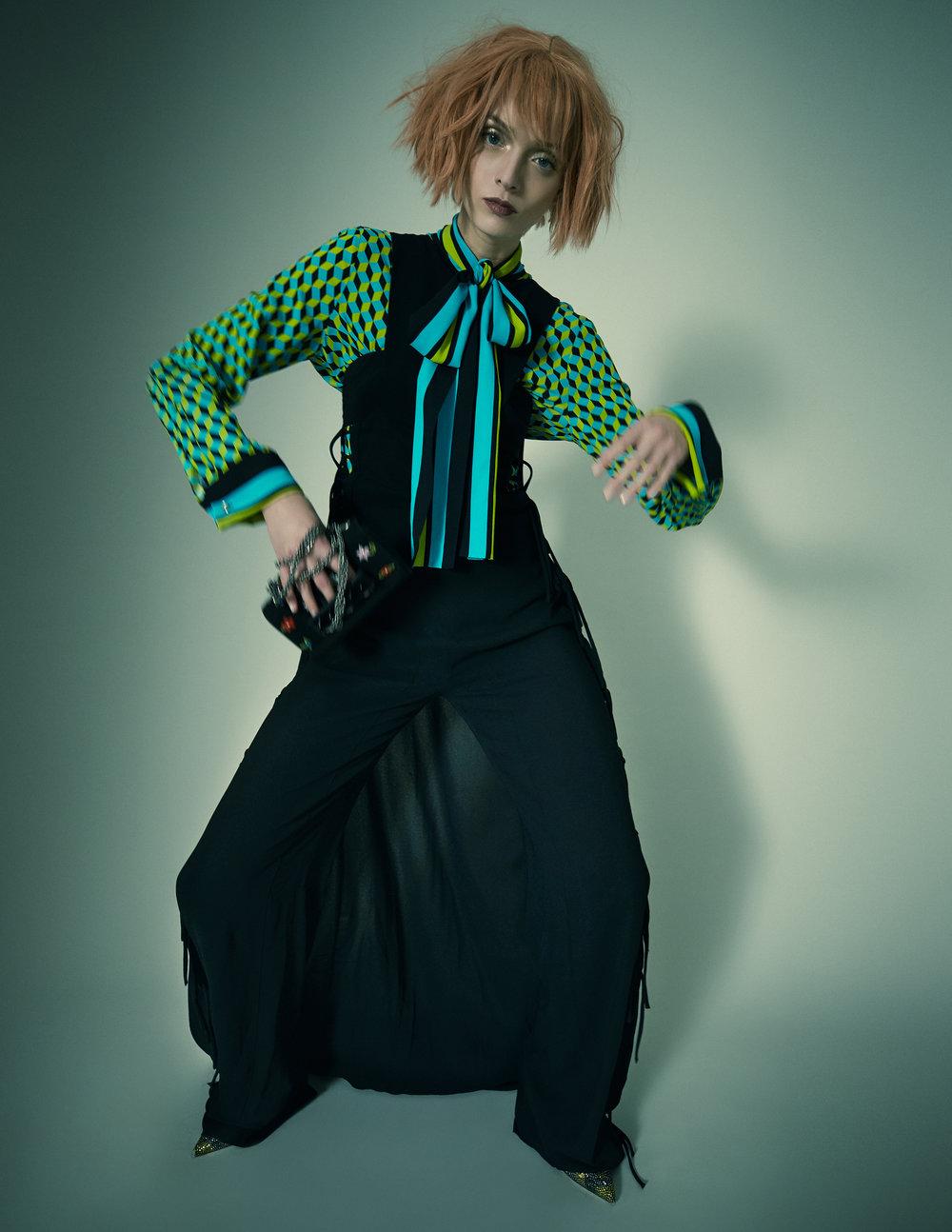 Shirt – Michael Kors Jumpsuit – Antonio Berardi Bag – Valentino Shoes – Valentino