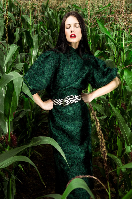 Green Dress - Zara @zara Zebra Print Belt – Isabel Marant @isabelmarant Boots – Zara @zara