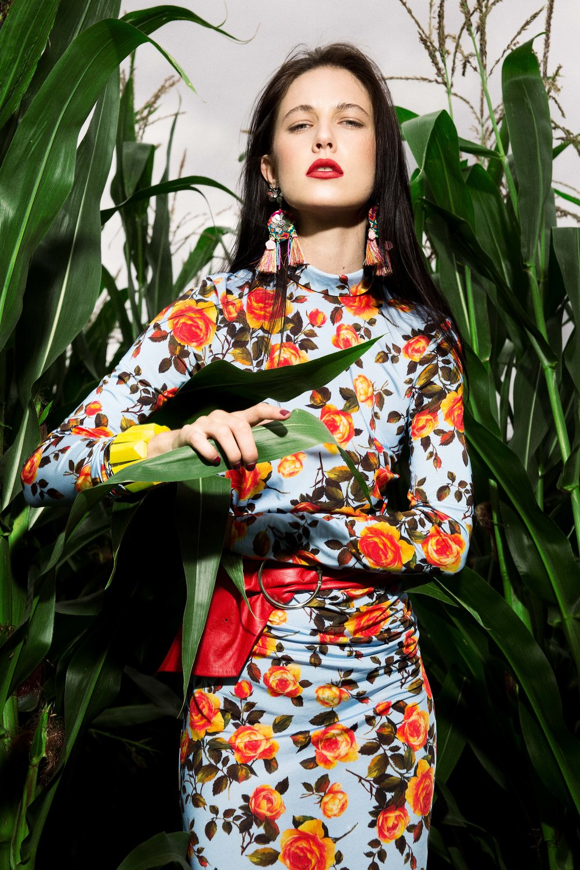 Dress - Zara @zara Red Belt - Zara @zara Bracelet – Topshop @topshop Earings – Glamorous @asos Boots – Zara @zara