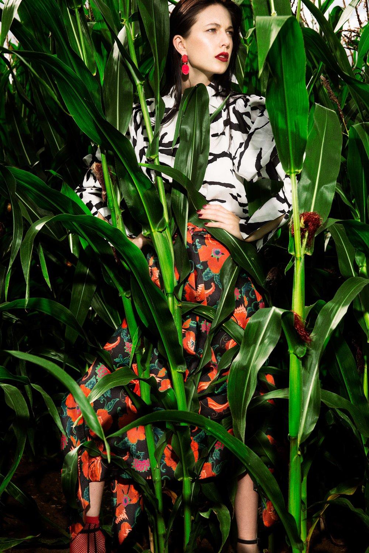 Red Flower Skirt – Zara @zara Zebra print batwing top – Asos @asosuk Shoes – Gainvito Rossi @gianvitorossi Earings – Asos @asos