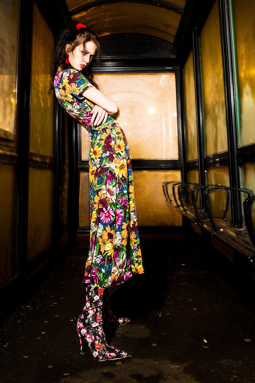 Maxi Floral dress - Zara @zara Floral high high boots - Public Desire @publicdesire