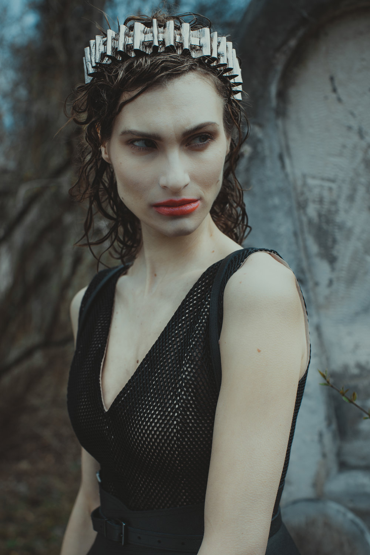 Dress and belt: Callisti Fashion  Headpiece: Faina available at Runway Vienna