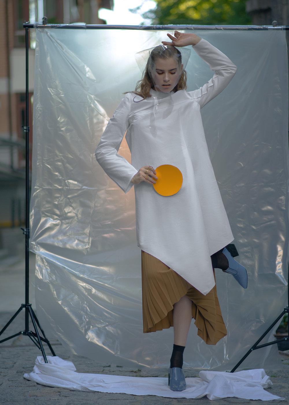 Dress PRZHONSKAYA Skirt FLOW THE LABEL Babushka Stylist's own Rings ABCDRINGS Shoes PRZHONSKAYA & ALI SAULIDI Socks Stylist's own