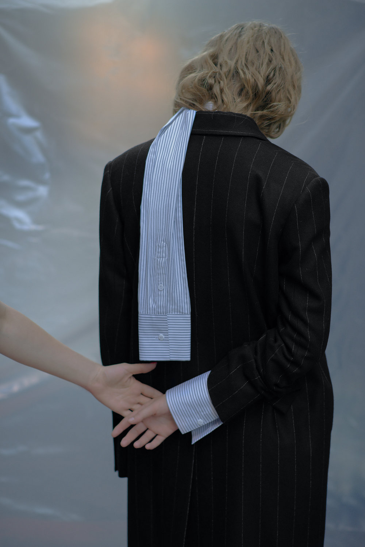 Coat BEVZA Shirt dress CHAKSHYN Earring Stylist's own