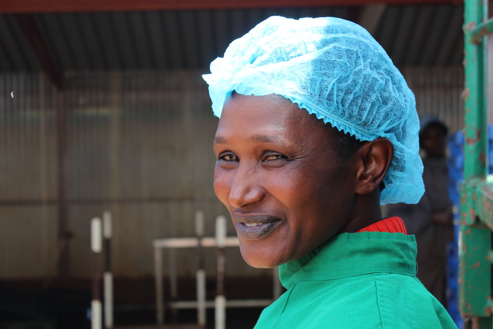 Worker Cecilia at developing country