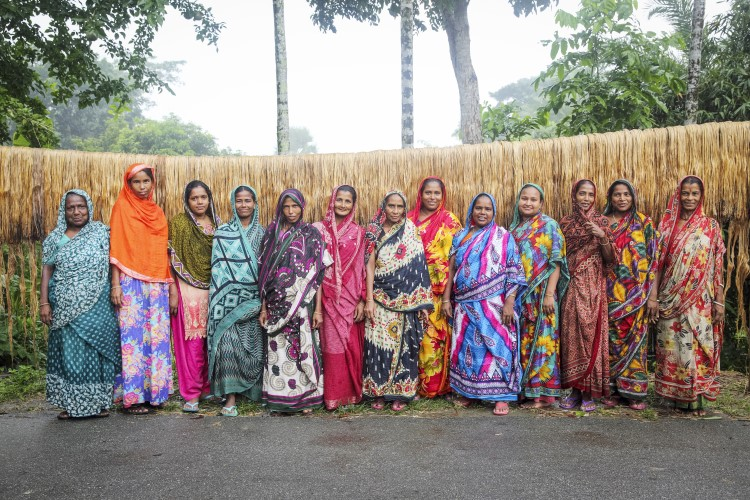 A self-help group of jute workers in the Jessore district