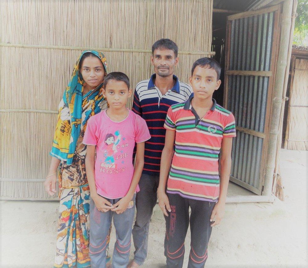 Jesmin and her family