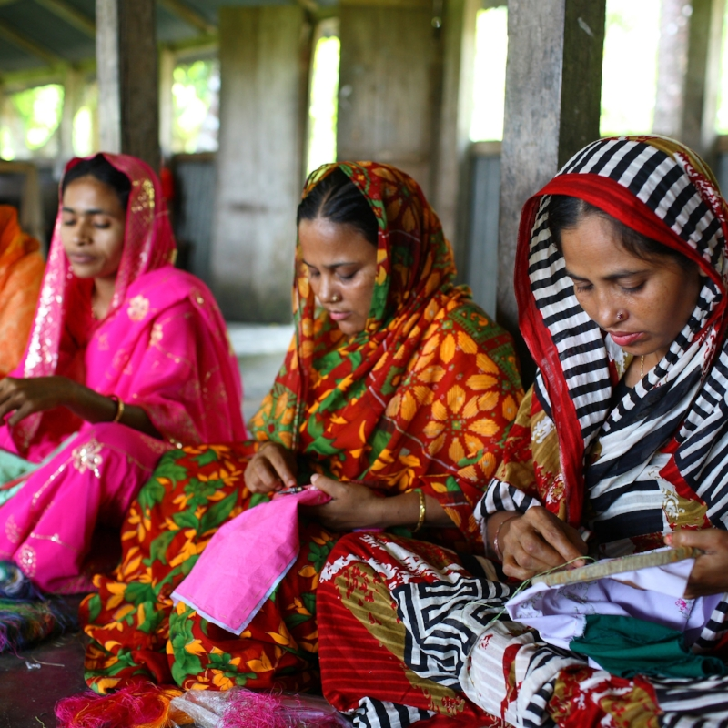 Women working at Swajan cards, Bangladesh