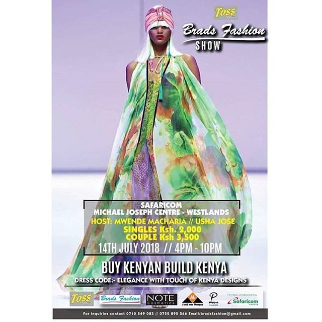 Tomorrow the Buluke team will be @bradsfashion cc @achieotigo... You have to attend, it will be bigger and better!!! : : #buluke #bulukeinc #bradsfashionshow #fashionista #kenyanentrepreneurs #entrepreneur #instafashion