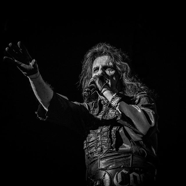 Alice Cooper at the SSE Hydro this year. On tour with his band Hollywood Vampires.