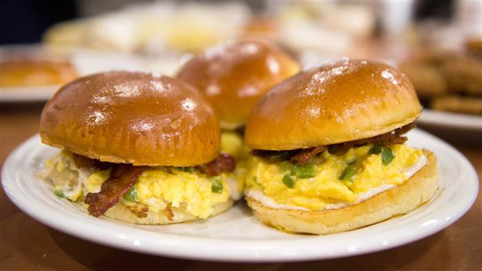 TODAY: Make the best brunch ever with cheesy egg sandwiches and crispy hash browns