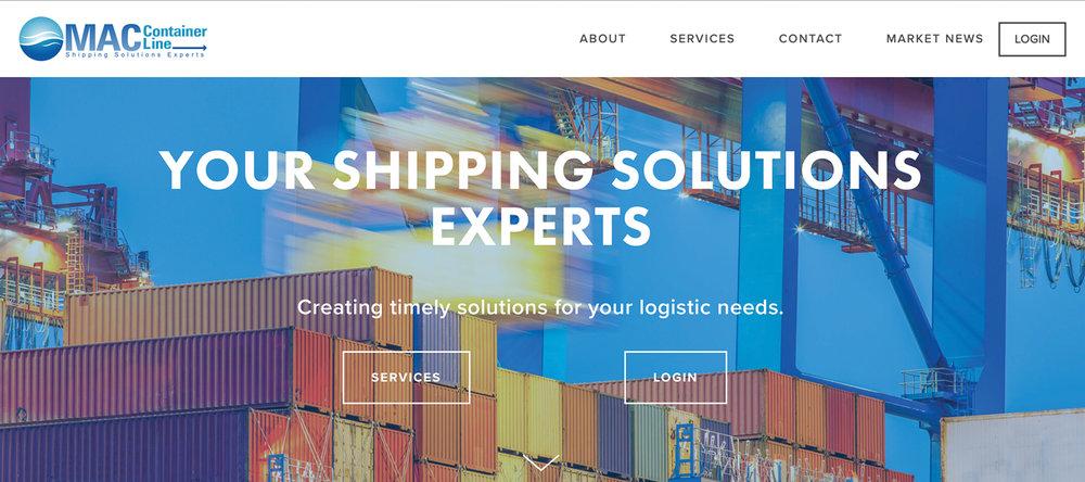 MAC Container Website Designed by Mason Jar Marketing