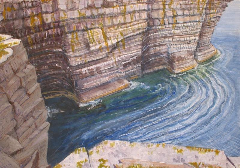 "Downpatrick Head   Pastel, 14x20"", 2013"