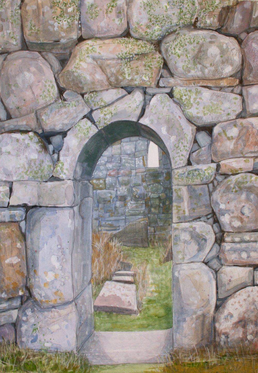 """Kilcomin Door   Watercolor/pencil, 20x14"""", 2013"""