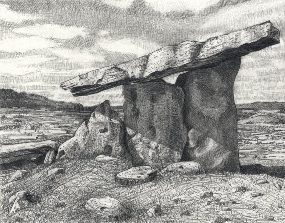 "Poulnabrone Dolmem   Pencil, 11x14"", 2015"
