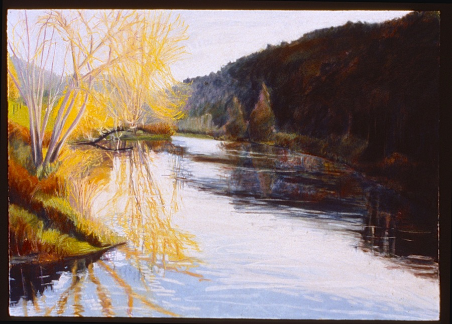 "Sunrise in New Hampshire   Pastel, 30x40"", 1993"