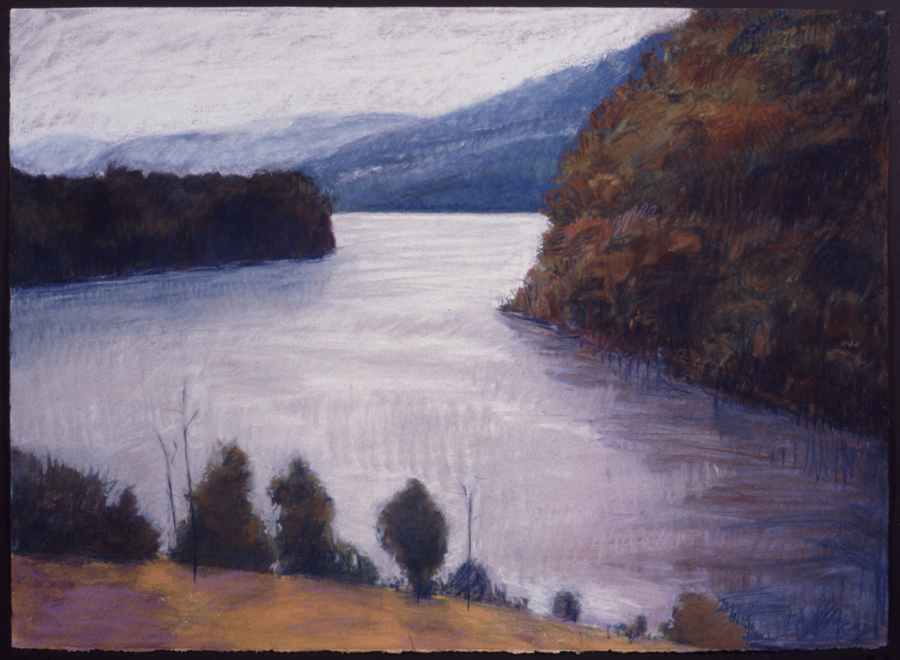 "The Big Bend   Pastel, 22x30"", 1993"