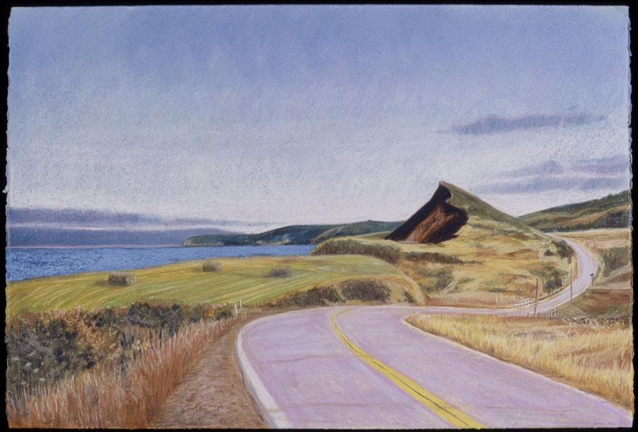 """Cap Le Moine   Pastel, 15x22"""", 2003"""