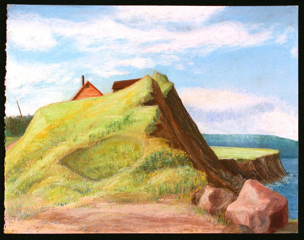 """Cap Le Moine House   Pastel, 15x20"""", 2003"""