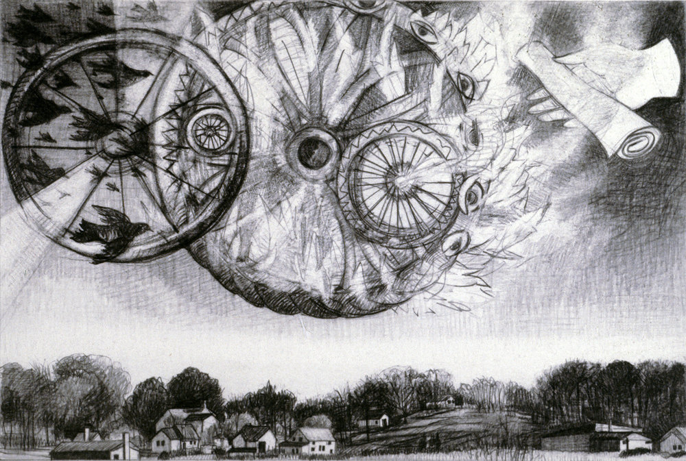 "Ezekiel's Vision   Pencil, 11x15"", 2002"