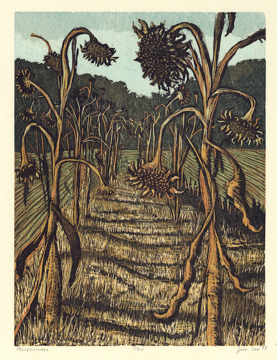 """Processional   Color woodcut, 17¾x14"""", 1998"""