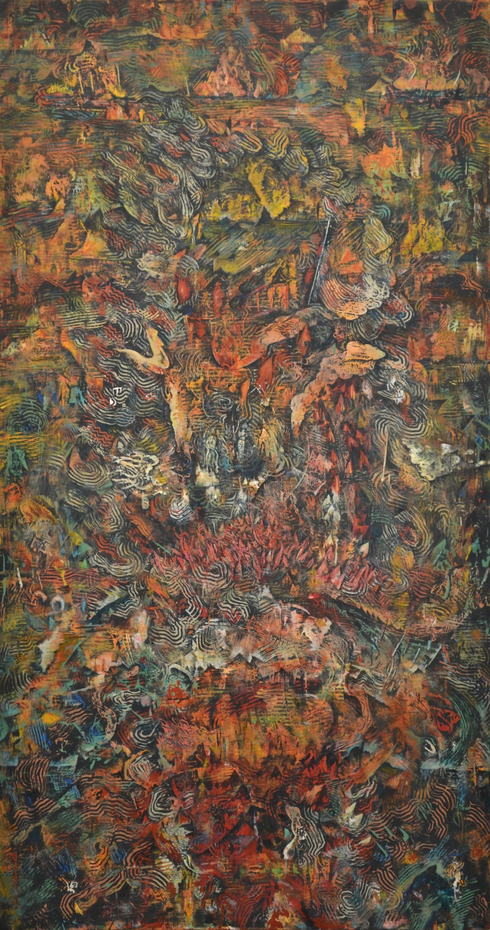 Untitled (Fire, Poudre Canyon, June 2012)   30.5 x 16.5 inches Acrylic on plywood 2017