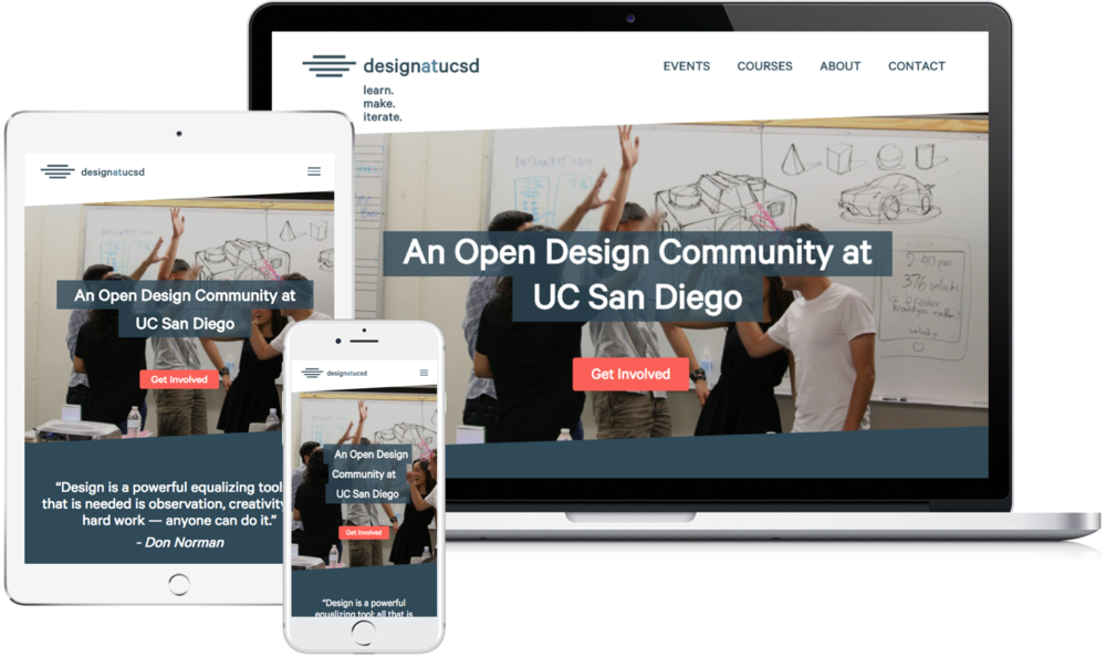 Design at UCSD - Web Design + Rebranding