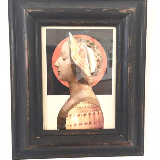 Surrealist collage by Lynda Gray . . #lyndagray #collage #ephemera #openstudios2017 #assemblage #collections #cutout #illustration #contemporaryart #visualart #foalarts