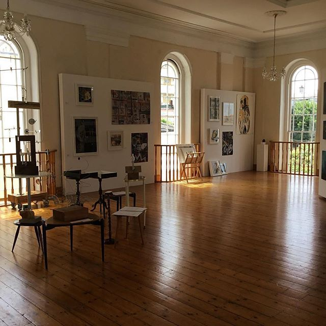 """Don't miss new works by @jill_wilkinson_artist experimental drawing informed by landscape RepostBy @jill_wilkinson_artist: """"This is a pic taken just before yesterday's launch of @foalarts Open Studios 2017.  A wonderful group of artists and some super work on show.  Why not come and see? #fineart #ceramics #enamelware #abstractart #collage #painting #drawing #textiles open 10-5 tomorrow and Sunday but work will be on show throughout August."""" (via #InstaRepost @AppsKottage)"""
