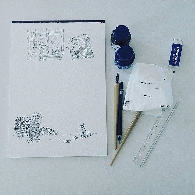 """Beautiful ink and digital drawings at Depozitory Bank Holiday Weekend. Drinks Preview evening Thursday 6pm All welcome  RepostBy @howardhardiman: """"Making the new Badger book!"""" (via #InstaRepost @AppsKottage)"""